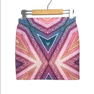 Zara Woven Pattern Pink & Purple Mini Skirt